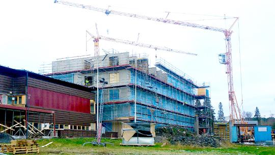 Byggställning på Frösö Park